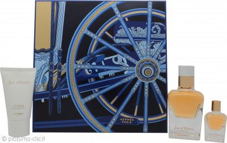 Hermes Jour d'Hermes Absolu Confezione Regalo 50ml EDP + 30ml Lozione Corpo + 7.5ml EDP Spray da Borsetta
