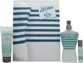 Jean Paul Gaultier Le Beau Male Confezione Regalo 125ml EDT Spray + 75ml Gel Doccia + 9ml EDT