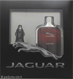 Jaguar Classic Red Confezione Regalo 100ml EDT + Caricabatterie per Auto USB