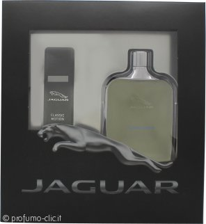 Jaguar Classic Motion Confezione Regalo 100ml EDT + 15ml EDT Spray da Viaggio