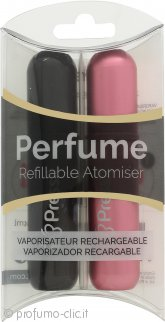 Pressit Flacone Spray Ricaricabile Duo Pack - Rosa & Nero
