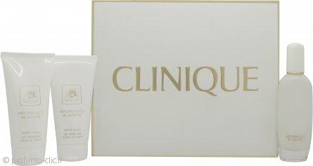 Clinique Aromatics in White Confezione Regalo 50ml EDP Spray + 75ml Lozione Corpo + 75ml Bagnoschiuma