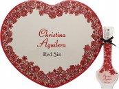 Christina Aguilera Red Sin Confezione Regalo 30ml EDP + Scatola di Latta a Cuore