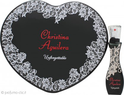 Christina Aguilera Unforgettable Confezione Regalo 30ml EDP + Scatola di Latta a Cuore