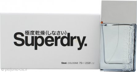 Superdry Steel Eau de Cologne 75ml Spray
