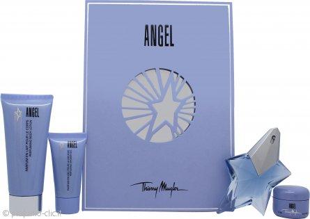Thierry Mugler Angel Confezione Regalo 25ml EDP + 30ml Gel Doccia Profumato + 100ml Lozione Profumata per il Corpo + 15ml Crema Profumata per il Corpo