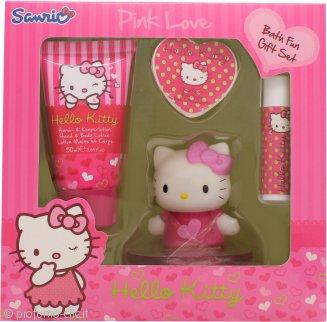 Hello Kitty Pink Love Confezione Regalo 50ml Lozione Corpo + 20g Saponi da Bagno + 4.5g Balsamo Labbra