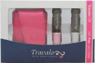 Travalo Fragrance Vaporisateur Pure Confezione Regalo 2 x Travalo Sprays (Rosa + Argentato) + Astuccio