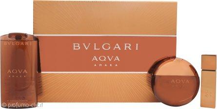 Bvlgari Aqva Amara Confezione Regalo 100ml EDT + 200ml Gel Doccia + 15ml EDT