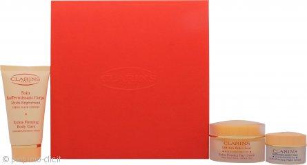 Clarins Super Skin Firmers Confezione Regalo 50ml Lift Anti-Rides Jour Extra-Firming Crema da Giorno Tutti i Tipi di Pelle + 15ml Extra Firming Crema da Notte Tutti i Tipi di Pelle + 75ml Extra Firming Crema Corpo