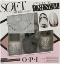 OPI Nail Polish The Look of Crystal Soft Shades Confezione Regalo 15ml Chiffon My Mind + 15ml Black Onyx + 15ml This Silver's Mine! + Cristalli Swarovski + 2g Colla per Unghie