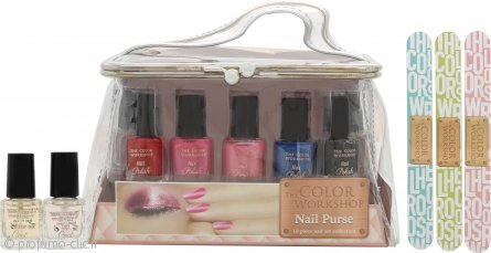 The Color Workshop Nail Art Confezione Regalo 10 x Smalti + Borsellino