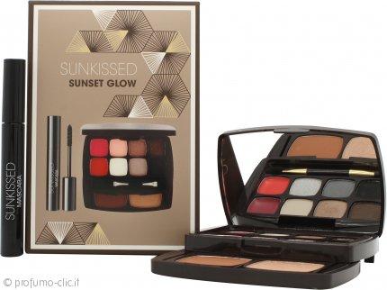 Sunkissed Sunset Glow Confezione Regalo 6 x 1.3g Ombretti + 2 x 0.8g Balsami Labbra + 3.8g Cipria Abbronzante + 3.8g Highlighter + 5.5ml Mascara Nero + Applicatore