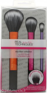 Real Techniques Duo-Fiber Collection Confezione Regalo 3 x Pennelli