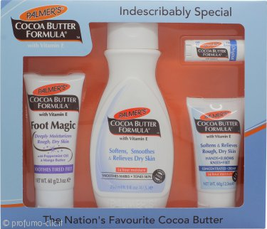 Palmer's Cocoa Butter Formula Confezione Regalo 250ml Lozione Corpo + 60g Crema Piedi + 60g Crema Concentrata + Balsamo Labbra