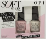 OPI Soft Shades Matt Pink & White Duo Confezione Regalo 2 x 15ml Smalti