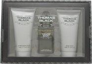 Laurelle Thomas Black Confezione Regalo 100ml EDT Spray + 175ml Bagnoschiuma + 175ml Balsamo Dopobarba