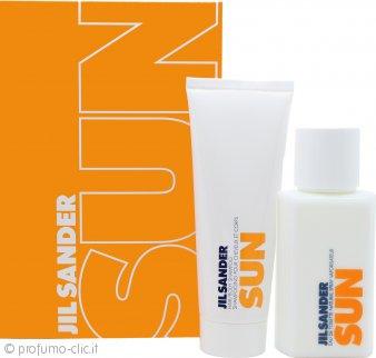 Jil Sander Sun Confezione Regalo 75ml EDT + 75ml Shampoo Capelli & Corpo