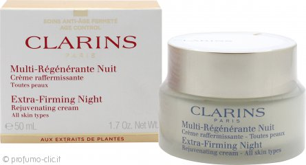 Clarins Extra Firming Night Rejuvenating Cream 50ml - Tutti i Tipi di Pelle