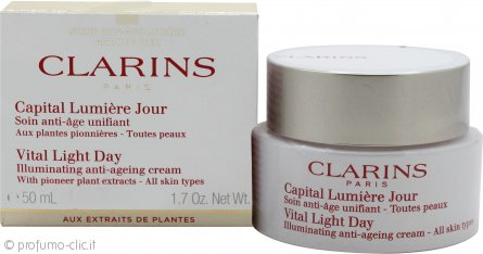 Clarins Vital Light Day Illuminating Anti-Ageing Comfort Cream 50ml Tutti i Tipi di Pelle