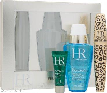 Helena Rubinstein Lash Queen Feline Confezione Regalo 7.2ml Waterproof Mascara + 50ml Struccante Occhi All Mascaras! + 3ml Prodigy Cura Occhi