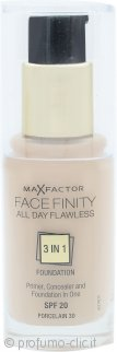 Max Factor Facefinity All Day Flawless 3 in 1 Fondotinta 30ml - SPF20 Porcelain 30