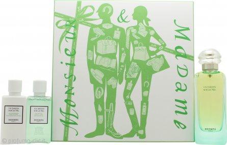 Hermes Un Jardin Sur Le Nil Confezione Regalo 100ml EDT + 40ml Lozione Corpo + 40ml Gel Doccia