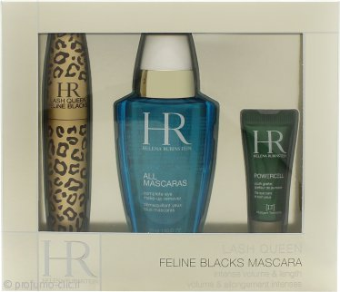 Helena Rubinstein Lash Queen Feline Confezione Regalo 7.2ml Mascara + 50ml All Mascaras! Struccante Occhi + 3ml Prodigy Eye Care