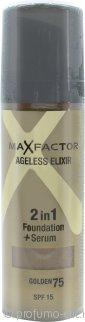 Max Factor Ageless Elixir 2 in 1 Foundation + Serum 30ml Golden 75