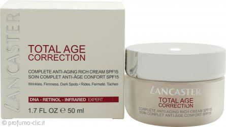 Lancaster Total Age Correction Crema Giorno SPF15 50ml - Rich