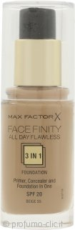 Max Factor Facefinity All Day Flawless 3 in 1 Fondotinta 30ml - SPF20 Beige 55