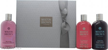 Molton Brown Blissful Bathing Confezione Regalo 3 x 300ml Bagnoschiuma (Pink Pepperpod + Honeysuckle & White Tea + Ylang-Ylang)