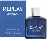 Replay Essential for Him Eau de Toilette 75ml Spray