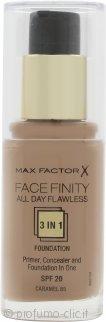 Max Factor Facefinity All Day Flawless 3 in 1 Fondotinta 30ml - SPF20 Caramel 85