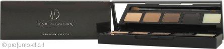 High Definition Palette Occhi & Sopracciglia 002 Foxy - 0.8g Highlighter + 0.8g Dark Blonde + 0.8g Medium Brown + 0.8g Carbon + 0.6g Wax