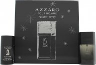 Azzaro Night Time Pour Homme Confezione Regalo 50ml EDT + 75ml Deodorante Stick
