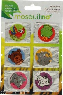 MosquitNo Spotzzz Citronella Stickers Foglio Singolo con Animali del Safari