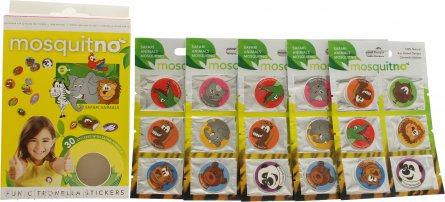 MosquitNo Spotzzz Citronella Stickers Confezione Regalo 5 Fogli - Animali del Safari