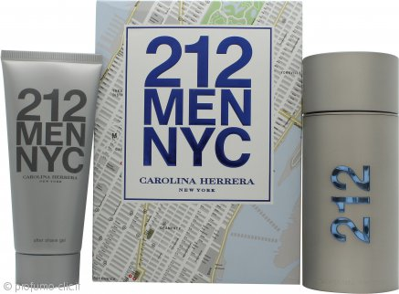 Carolina Herrera 212 Men Confezione Regalo 100ml EDT + 100ml Gel Dopobarba