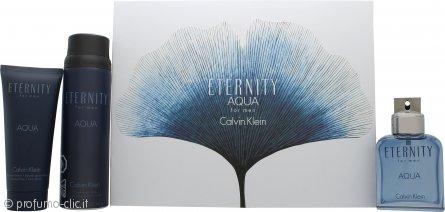 Calvin Klein Eternity Aqua Confezione Regalo100ml EDT + 152g Body Spray + 100ml Balsamo Dopobarba