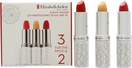 Elizabeth Arden Eight Hour Cream Stick Protettivo Labbra 3.7g x 3 - SPF15