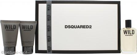 Dsquared2 Wild Confezione Regalo 30ml EDT + 2 x 30ml Shampo e Bagnoschiuma