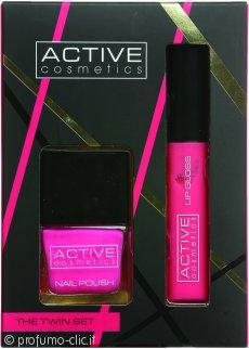 Active Cosmetics The Twin Set Smalto Pink + Lucidalabbra Pink