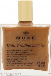Nuxe Huile Prodigieuse Or Multi-Usage Golden Shimmer Olio Secco 50ml