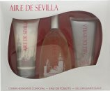 Instituto Español Aire de Sevilla Confezione Regalo 150ml EDT Spray + 150ml Gel Esfoliante + 150ml Crema Corpo