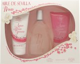 Instituto Español Aire de Sevilla Agua de Rosas Frescas Confezione Regalo 150ml EDT Spray + 150ml Gel Doccia + 150ml Crema Corpo
