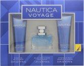 Nautica Voyage Confezione Regalo 30ml EDT + 75ml Gel Doccia + 75ml Balsamo Dopobarba