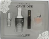 Lancome Genifique Confezione Regalo 30ml Advanced Siero + 4ml La Vie Est Belle EDP + 2ml Hypnôse Mascara + 5ml Génifique Eye Pearl