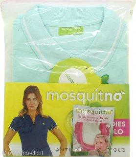 MosquitNo Confezione Regalo Anti Mosquito Ladies Polo Taglia M + Braccialetto alla Citronella - Colori Assortiti