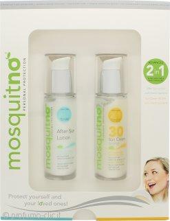 MosquitNo Repellente per Insetti Confezione Regalo 50ml Crema Solare Protettiva SPF30 + 50ml Lozione Doposole